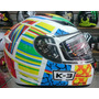 Capacete Valentino Rossi 46 Elements K-3 Com Selo Lançamento