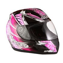 Capacete Feminino Rosa Texx Moto Honda Yamaha Suzuki Kawasak