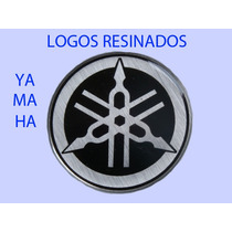 Adesivo Logo Yamaha 2,5 Cm-resinado-alto Relevo - Moto Carro