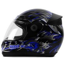 Capacete Pro Tork Evolution 3g 788 Moto Dog Azul Preto
