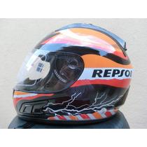 Capacete Repsol Df2 Helmet 2012 Tenho Monster Nos Robocop