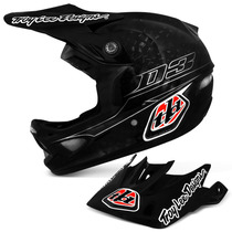 Capacete Bike Troy Lee D3 Carbono Helmet Preto Downhill Mtb