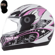 Capacete Modelo Evolution 3g For Girls Feminino + Balaclava