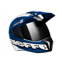 Capacete Bieffe 3 Sport Rally Br - Cross, Enduro E Street