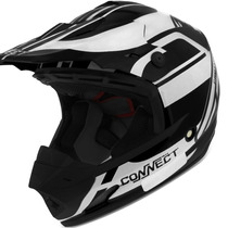 Capacete Cross Pro Tork Th1 Connect Solid Preto Trilha 58