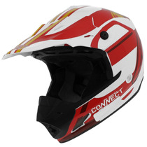 Capacete Cross Pro Tork Th1 Connect Spice Branco Trilha 60