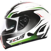 Capacete Zeus 806a Ii32 Alva 2 Logo Wht/green New Italy