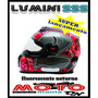 Capacete Evolution Luminosense Sss 321 Fluorescente A Noite