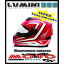 Capacete Evolution Luminosense Sss 313 Fluorescente A Noite