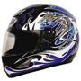 Capacete Motociclista Thh Ts-41 Dragon Preto / Azultam: 60