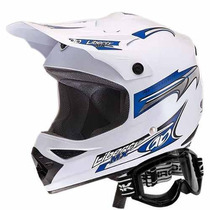 Capacete Moto Mx Pro Pro Tork E Óculos 788 Trilha Motocross