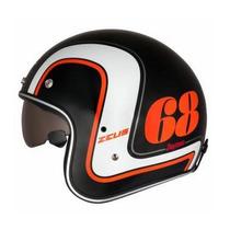 Capacete Zeus 380f Daytona Black Orange***frete Grátis***