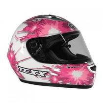 Capacete Texx Flash Pink C Branco Moto Feminino Yes Ibr Hond