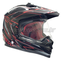 Capacete Asw Dual Street Com Visêira Off Road Cross Ñ Fox