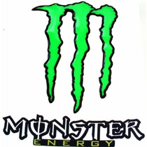 Kit Adesivo Resinado Monster G Verde Borda Preta