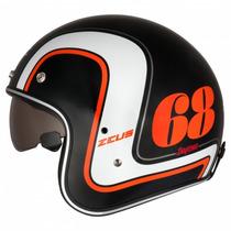 Capacete Zeus 380f Daytona Custom Cafe Racer Harley Davidson