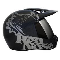 Capacete Moto Bieffe 3 Sport Red Nose Preto Bieffe Novo