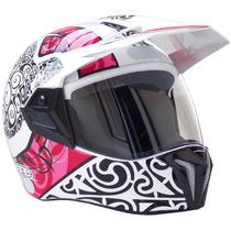 Capacete Moto Bieffe 3 Sport Maori Rosa Frete Grátis Bieffe