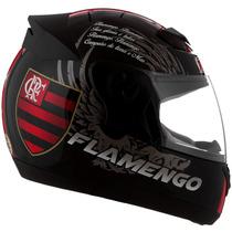 Capacete Flamengo Oficial Pro Tork + Brinde