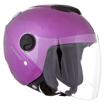 Capacete New Atomic Pro Tork Solid Viseira Solar Lilas