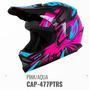 Capacete Infantil Cross Ck-01 Pro Tork Kids + Brinde - Rosa