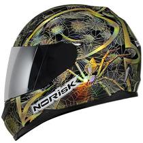 Capacete Norisk Ff391 Net Black Kabeçudu Moto Peças