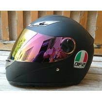 Capacete Df2 Valentino Rossi Preto Fosco Black 2 Viseiras