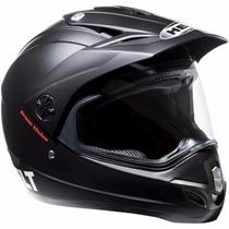 Capacete Motocross Helt Cross Vision Preto Fosco Número 62