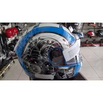 Capacete Pells Spike Ciborg Azul/graf Tamanho 58