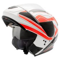Capacete Moto Peels Urban Glory C/óculos Fumê Robocop Vermel