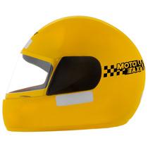 Capacete Fechado Tork Liberty X Amarelo Moto Taxi 60