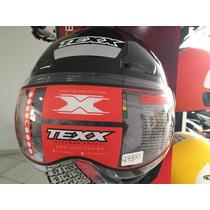 Capacete Aberto Texx Arsenal Preto Metalico, Agv, Ls2,norisk