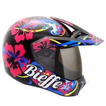 Capacete Bieffe 3 Sport Hawaii Preto É Na Dragon Racing