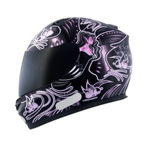 Capacete Mt Blade New Butterfly Black/pink ( Bi Composto )