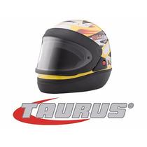 Capacete Taurus San Marino Grafic Automático Amarelo 58