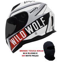 Capacete Nasa Sh881 Wild Wolf Resistente Leve + Balaclava