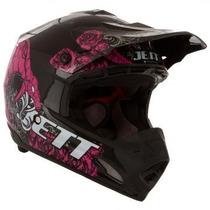 Capacete Motocross Jett Veneno Preto/rosa