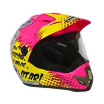 Capacete Motocross Feminino Helt Cross Vintage Número 62