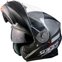 Capacete Texx Blitz Robocop Escamoteável Preto Fosco Tam: 58