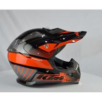 Capacete Moto Cross Ktm Profissional Top ( Não É Ls2 ) !!!!