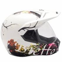 Capacete Bieffe 3 Sport New Floral Branco