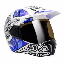 Capacete Bieffe 3 Sport Maori Azul Lançamento Moto