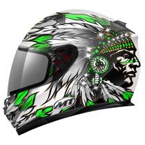 Capacete Mt Helmets Blade Chieftan Branco Verde - 61/62
