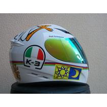 Capacete Valentino Rossi 46 Italia K-3 Original 2 Viseiras