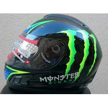 Capacete Monster Energy Helmet Premium Abs Mrc Com Selo