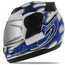 Capacete Moto Fechado Pro Tork Evolution 3g Branco Azul