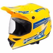 Capacete Motocross Liberty Mx Vision Amarelo 58 C/ Viseira