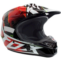 Capacete Fox V1 Motocross Trilha Enduro Off Road Radeon Red