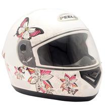 Capacete Feminino Motociclista Peels Spike Butterfly Branco
