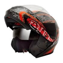 Capacete Moto Peels Urban Fire Articulado Robocop Óculos Fum